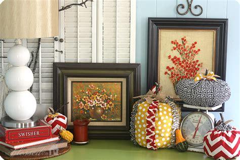 vignette home decor decorating for fall fall vignette