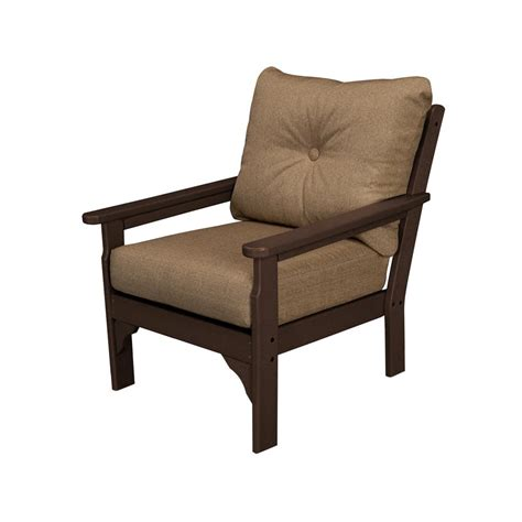 plastic lounge chairs home depot polywood vineyard plastic outdoor lounge chair with sesame