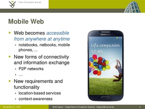 mobile phones information mobile information systems lecture 08 web information