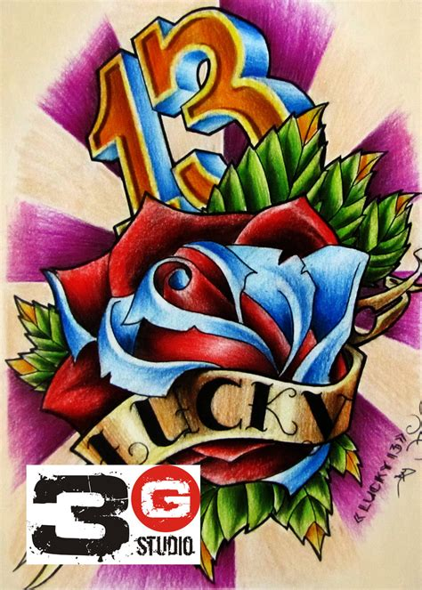 lucky tattoo designs lucky number 13 designs www imgkid the