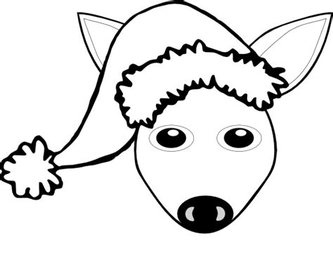 black and white christmas hat fawn clipart black and white clipart panda free clipart images