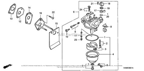 honda mower parts diagram honda hr173 pda lawn mower jpn vin ma2r 1000001 parts