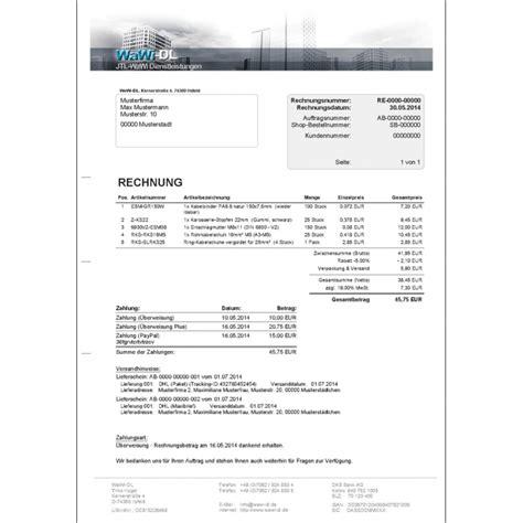 Design Rechnung Vorlage Jtl Wawi Druckvorlagen Set Design 01 Wawi Dl 70 50