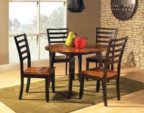Round Dining Room Sets With Leaf by Abaco 5 Piece Double Drop Leaf 42 Inch Round Dining Room Set
