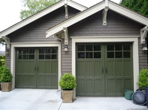 Craftsman Style Garages | heritage wood garage door craftsman garage and shed