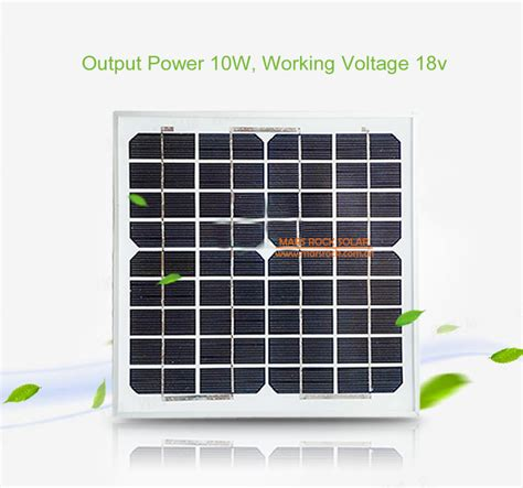 Solar Panel Monocrystalline 10w 18v With Dc Connector 10w 18v monocrystalline silicon solar panel module with ce tuv rohs ul certificates us66