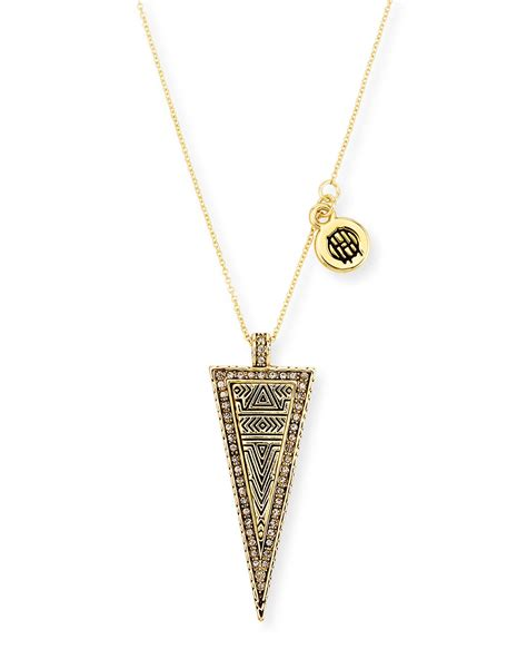 House Of Harlow Jewelry by House Of Harlow 1960 Sparkling Periphery Pendant Necklace