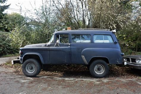 64 Dodge Power Wagon by Seattle S Parked Cars 1964 Dodge Power Wagon Town Wagon