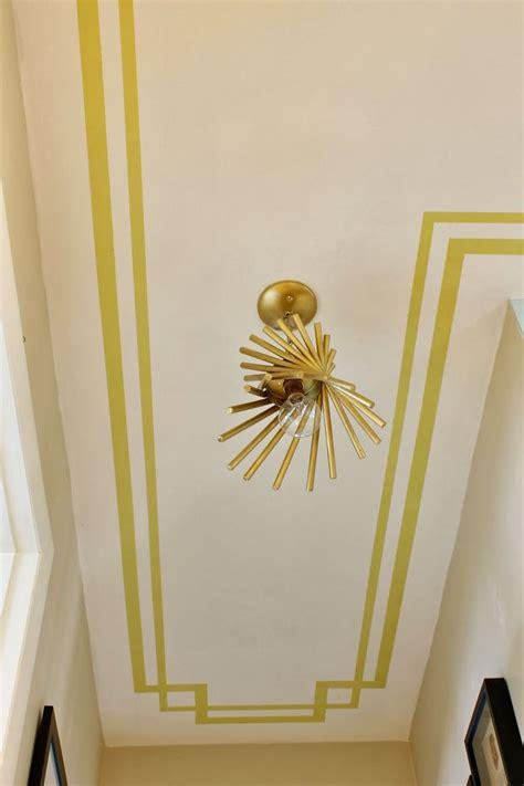 border painted   ceiling love  idea