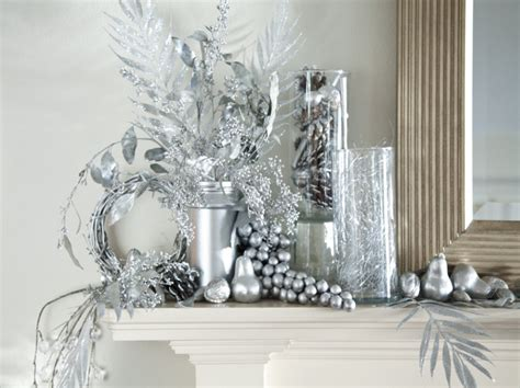 silver christmas table decorations with nice design home