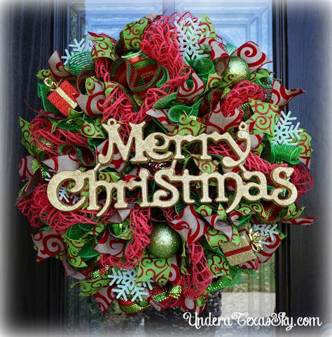 adding deco mesh last minute to xmas tree deco mesh wreath tutorial a sky