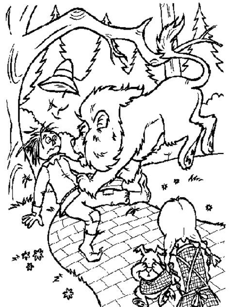 wizard of oz coloring pages easy wizard of oz coloring pages for kids coloringpagesabc com