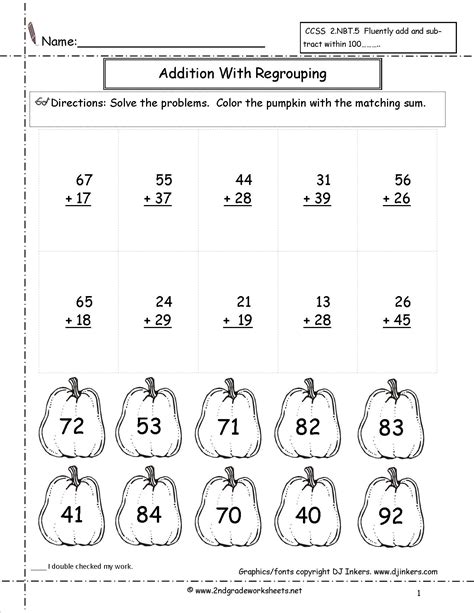 free printable math worksheets no regrouping double digit addition coloring worksheets two digit