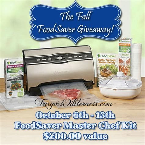 Food Giveaway Today - the fall foodsaver giveaway trayer wilderness