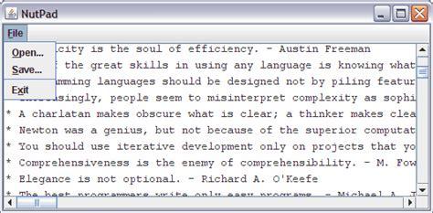 design text editor in java java exle simple editor