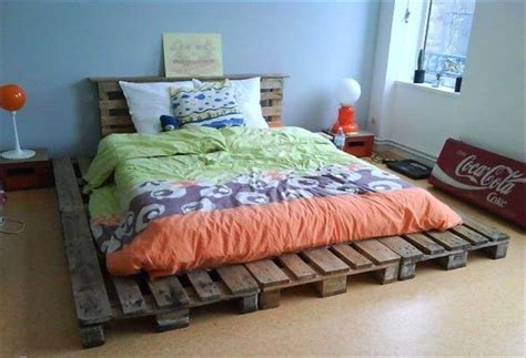 pallet bed frame ideas 42 diy recycled pallet bed frame designs