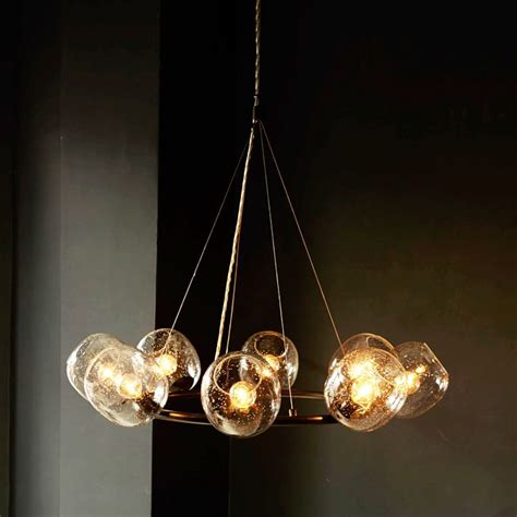 Eclipse Chandelier 15 Blown Glass Pendant Lighting Ideas For A Modern And Sleek Glow