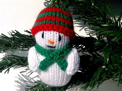 christmas decor knit christmas tree ornament craft ideas
