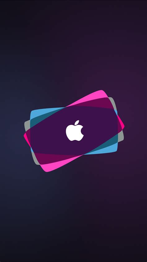 apple neon iphone wallpaper hd