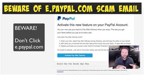 Paypal Search By Email Beware E Paypal Email Scam