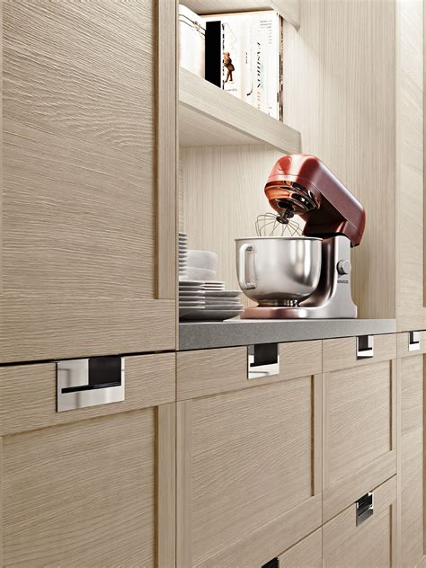 modular kitchen  integrated handles lux classic