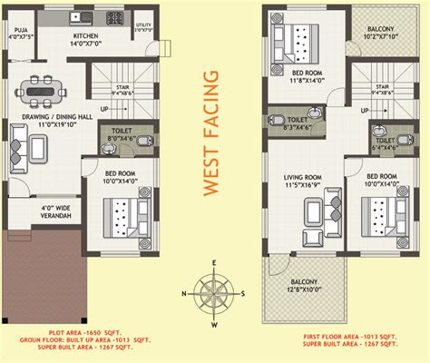 West Facing House Plans Per Vastu Surprising Idea 3 Duplex West Facing House Vastu Plan