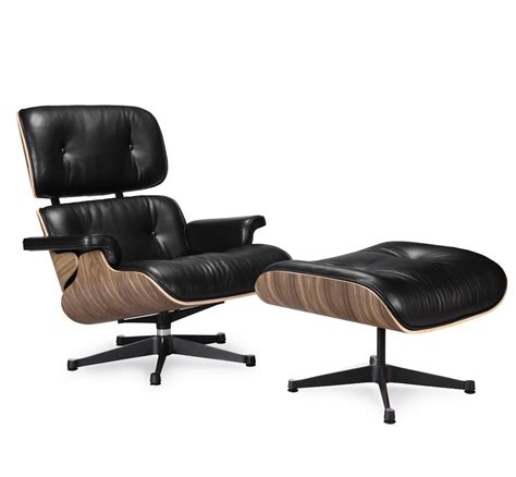 The Eames Lounge Chair by Eames Lounge Chair Replica Black Manhattan Home Design