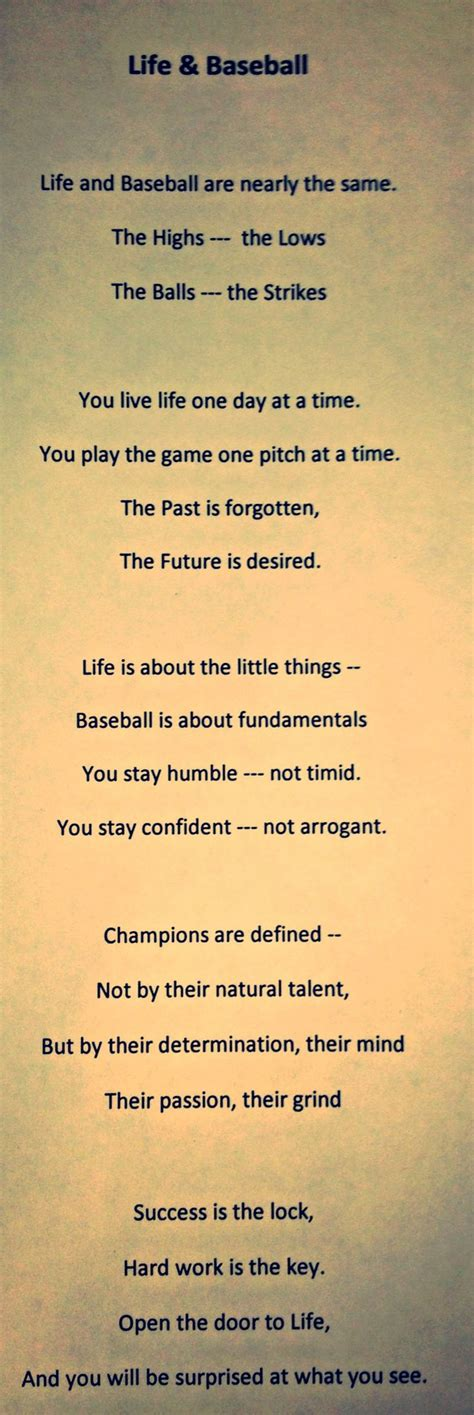 poems for baseball quotes and poems quotesgram