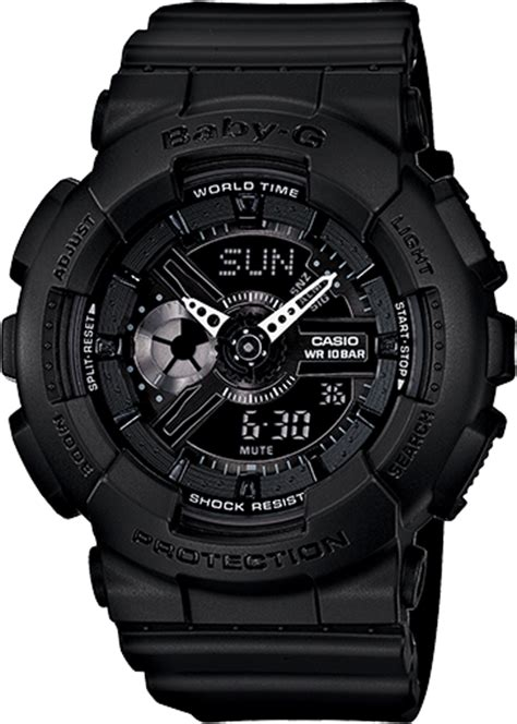 G Shock Baby G Time Black Angka Gold ba110bc 1a baby g black womens watches casio baby g