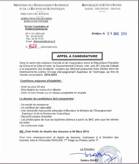 lettre de motivation bourse etude les bourses d 233 tudes disponibles en cote d ivoire et hors c 244 te d ivoire et bourse en coop 233 ration