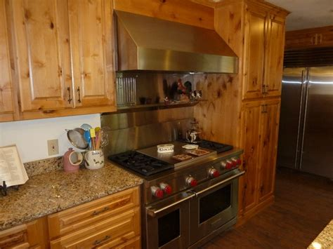 knotty alder cabinets eclectic kitchen other metro