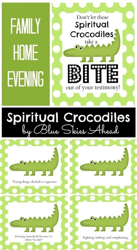 family home evening lesson spiritual crocodiles lds