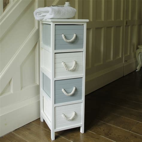 Nautical Bathroom Storage Shabby Chic Furniture Style Home Accessories Melody Maison
