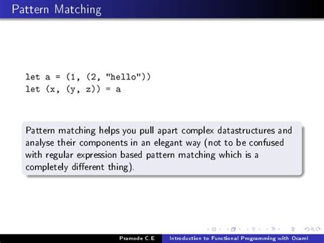 pattern matching string ocaml introduction to functional programming using ocaml