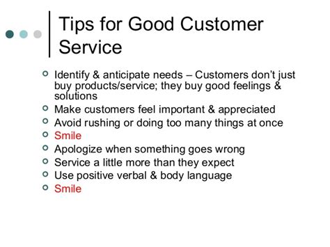 about customer service