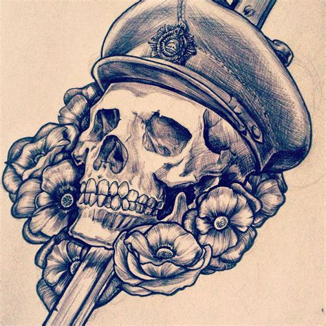 design my tattoo for me canadian wwi skull and dagger design ross rifle