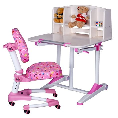child study table solid ergonomic children study table set whitewash color