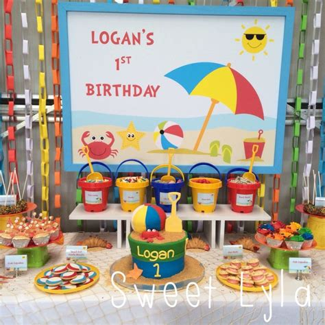 themes party birthday beach themed 1st birthday party ideas for a cool indoors