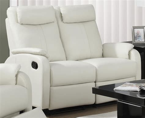 ivory leather reclining sofa 81iv 2 ivory bonded leather reclining loveseat from