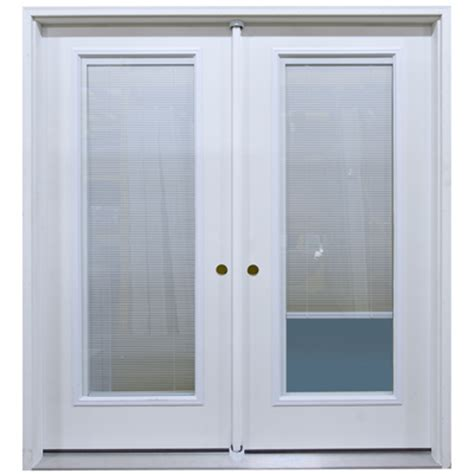 6 swing patio door unit with mini blinds between