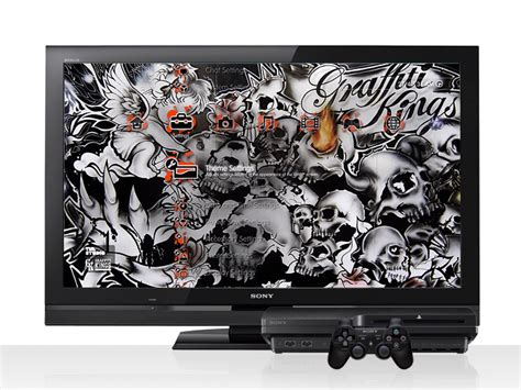 graffiti wallpaper ps3 graffiti kings playstation themes for the ps3 ps4 ps vita