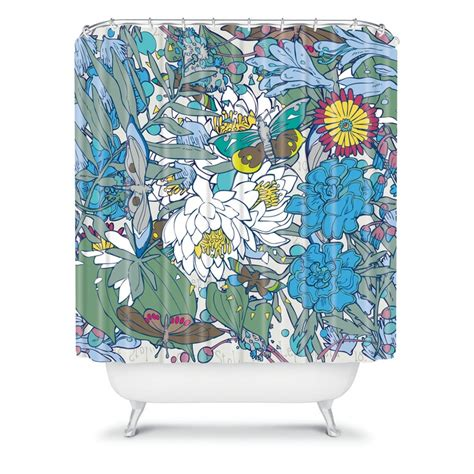 blue butterfly shower curtain geronimo studio blue butterflies shower curtain studios
