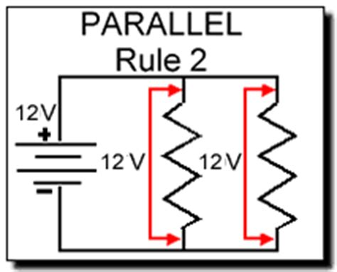 three resistors connected in parallel the individual voltages labeled electrical electronic series circuits
