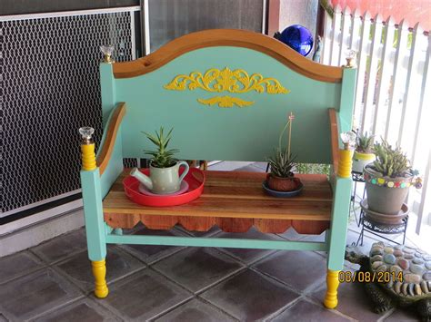bench made from old bed frame hometalk bench made from old bed frame