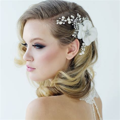 Flower Hair Accessories For Weddings by Bridal Flower Hair Accessories Www Imgkid The