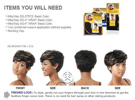 27 piece hair milky way shake n go milky way 100 human hair sg wrap style