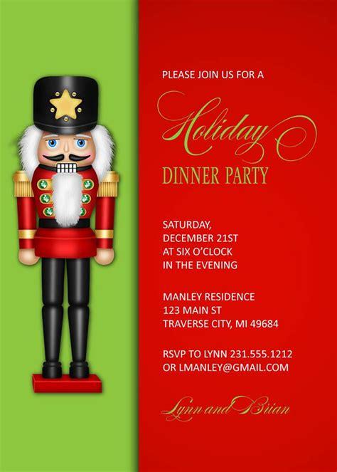 printable nutcracker invitations nutcracker christmas invitation