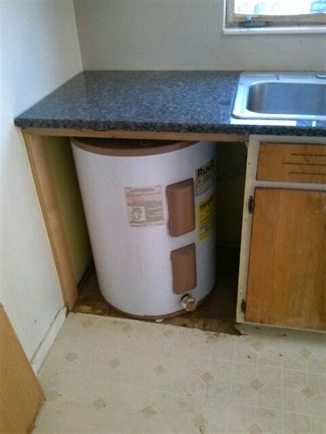cabinet water heater water heater in kitchen don t do this to your home