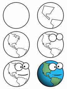 How To Draw Earth Drawing A Earth