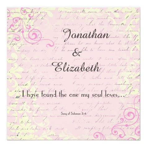 Bible Verses Used In Wedding Cards by Vintage With Bible Verse Wedding Card Zazzle